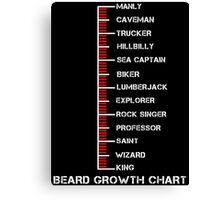 Beard Growth Chart Ruler Canvas Print