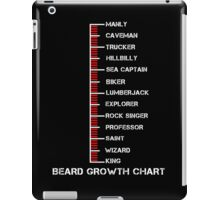 Beard Growth Chart Ruler iPad Case/Skin