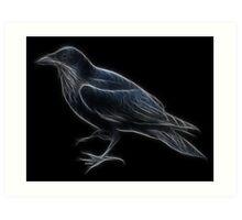 Medicine Wheel Totem Animals by Liane Pinel- Raven Art Print