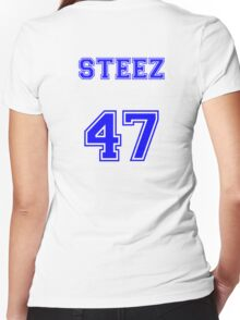 CAPITAL STEEZ 47 JERSEY Women's Fitted V-Neck T-Shirt