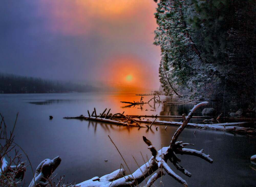 Sunset in the Cascades Suttle Lake by Charles & Patricia   Harkins ~ Picture Oregon