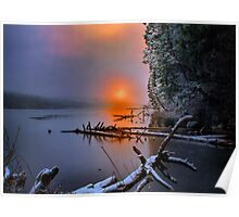 Sunset in the Cascades Suttle Lake Poster