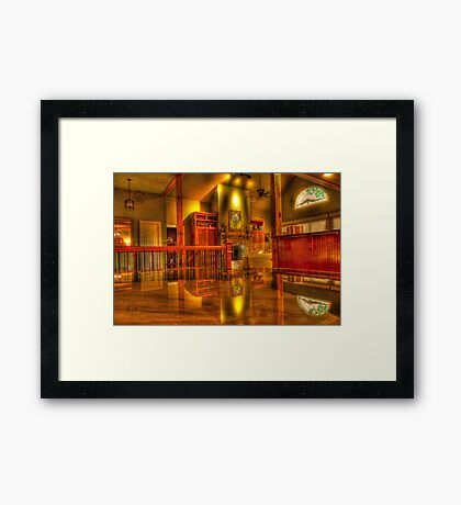Craftsman Influenced Interior Framed Print