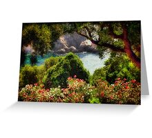 View From The Terrace - The Paleokastritsa Monastery, Corfu, Greece Greeting Card