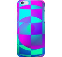 Vaporwave-Swirled Energy Sphere iPhone Case/Skin