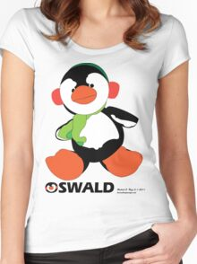 Oswald T. Penguin - T-shirt Women's Fitted Scoop T-Shirt