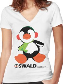 Oswald T. Penguin - T-shirt Women's Fitted V-Neck T-Shirt