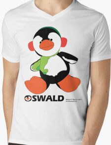 Oswald T. Penguin - T-shirt Mens V-Neck T-Shirt