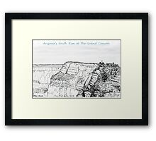 A GRAND Canyon sketch Framed Print