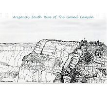 A GRAND Canyon sketch Photographic Print