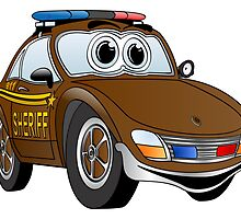 Sheriff Brown Sports Car by Graphxpro