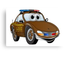Sheriff Brown Sports Car Canvas Print