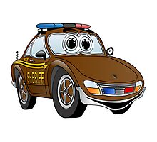 Sheriff Brown Sports Car Photographic Print