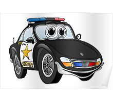 Sheriff Black and White Sports Car Poster