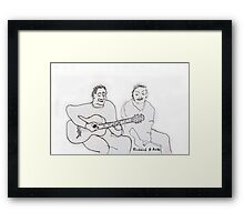 Guitar player and wife Framed Print