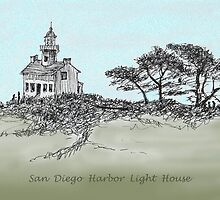 San Diego's Light House by James Lewis Hamilton