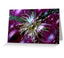 Bubbly Clematis Greeting Card