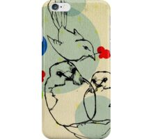 birds ink drawing iPhone Case/Skin