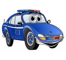 State Patrol Car Cartoon Photographic Print