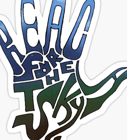 Reach for the Sky Sticker