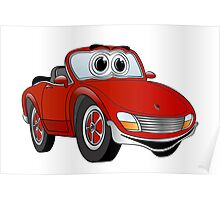 Convertible Red Sports Car Poster