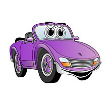 Convertible Purple Sports Car Photographic Print