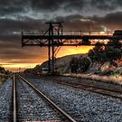 Railyard Sunrise by Rod Wilkinson