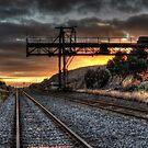 Railyard Sunrise by Rod Wilkinson