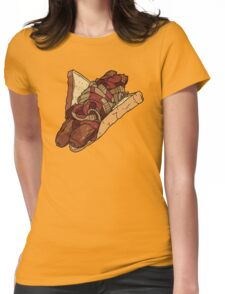 Snags: Two Snags with Onions and Sauce Womens Fitted T-Shirt
