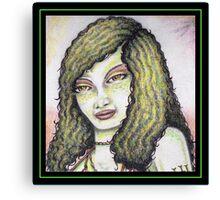 A Portrait of the Lizard Queen Canvas Print