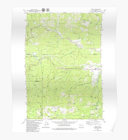 USGS Topo Map Oregon Midway 362932 1979 24000 Poster