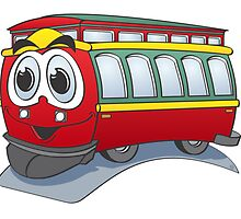 Trolley Cartoon by Graphxpro