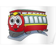 Trolley Cartoon Poster