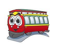 Trolley Cartoon Photographic Print