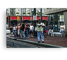 Canal Street Bustle Canvas Print