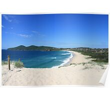 One Mile Beach, Forster, NSW Poster