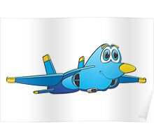 Military Jet Cartoon Poster