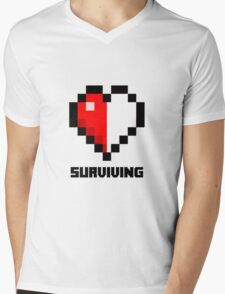 Gaming Heart Mens V-Neck T-Shirt