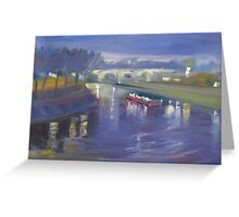 Lights over the river Seine Greeting Card