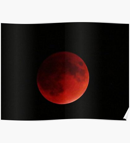 Blood Moon Eclipse Poster