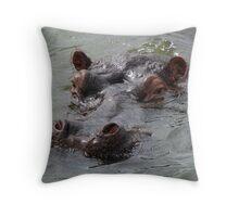 hippo head Throw Pillow