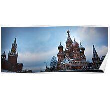 Kremlin, St Basils panorama Poster