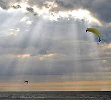 Kites between the sun rays..... by Adri  Padmos