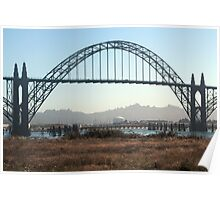 From under the Bridge New Port Oregon Poster