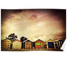 Bathing boxes, Brighton Beach Poster