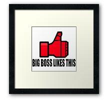 Big Boss likes this Framed Print
