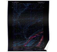 USGS Topo Map Washington Blalock Island 240105 1962 24000 Inverted Poster