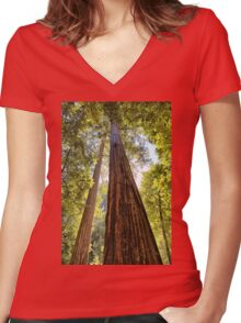 The Redwoods Women's Fitted V-Neck T-Shirt