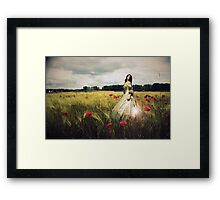 Through the dancing poppies Framed Print