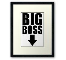 Big Boss Framed Print